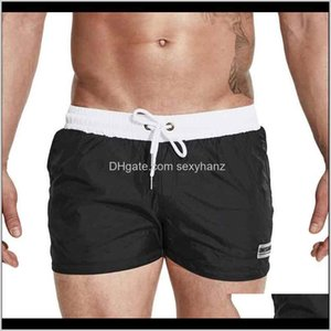 Swimwear Clothing Apparel Drop Delivery 2021 Mens Swimming Trunks Nylon Quick Dry Loose Swwimwear Liner Mesh Board Shorts Swim Dsting Men Swi