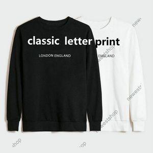 Зима Европа Лондон Англия Толстовки дизайнер Роскошь Для Мужской Письмо Печать Хозяйственная Мода Толстовка Женская Повседневная Пуловер Джампер