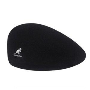 Kangourou de laine de laine fashion béret chapeau femme feutre béret style britannique chapeau chaude chapeau de promenade femme couleur massif casual hiver chapeau d'hiver hommes