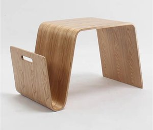 living room Bentwood Plywood Mid Century Design Modern End Table For Breakfast, Magazine Furniture Side Tea Bed Laptop