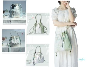 Literature and Art Popular Embroidery Retro Style Canvas Handbag Hanfu Lotus Messenger Bag Shopping Single Shoulder Bag