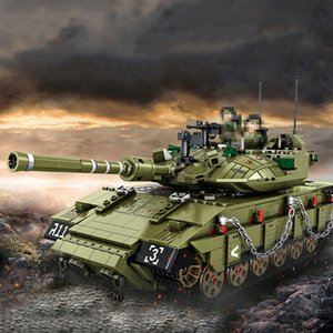 Educational 1:28 Israel Merkava MK4 Main Battle Tank Model Kits Building Blocks Bricks Military Toy