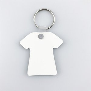 keychains For Sublimation Mdf Heart Round Love Key Chain Thermal Transfer Printing DIY Blank Material Party Favor 678 S2