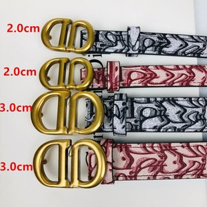 Hot 2021 DC designer women men belt fashion gold buckle belt size 2.0-3.0cm