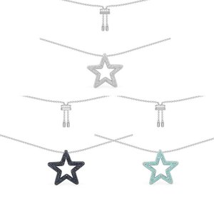 Novelty Romantic Crystal Star Adjustable Blue Cubic Necklace Exquisite Jewelry Pendant Necklaces
