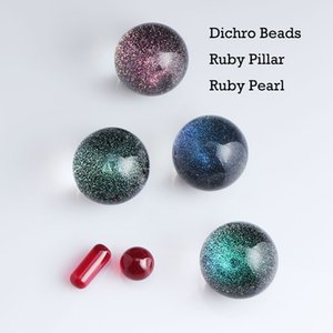 2021 Smoking Accessories Set Including Dichro Beads Ruby Pillar And Pearls Suit For Terp Slurper Quartz Banger