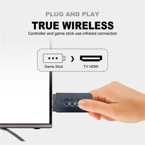 New Version 4K Ultra HDTV Video TV Game Console Built-818-in Retro Classic Games Players with 2 Wirless Gamepads for FC Simulator