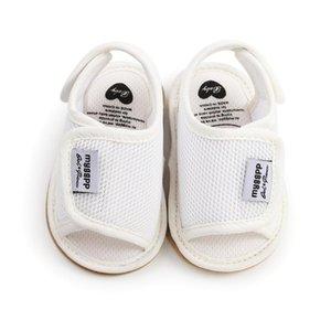 Summer Born Baby Shoes Girls Boys Sandals Mesh Soft Non-Slip Rubber Sole Flat Walking Beach First Walkers