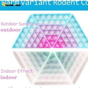 Ändert die Farbe in der Sonne Push Fidget Bubble Board Toys Rainbow Sensory Poo Seine photochrome Blasen Puzzle Stress Relief ADHD benötigt FM22