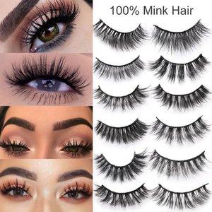 3D Faux Mink Eyelashes Natural Thick Long False Eyelash Dramatic Fake Lashes Makeup