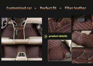 Car Floor Mats for Golf GTI 2010-2013 Luxury Leather Waterproof Red