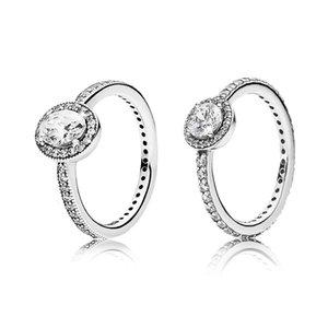 Anello di diamante CZ, anello di nozze Pandora per ragazze, spedizione veloce per uomo e donne gioielli di fidanzamento 589 y2