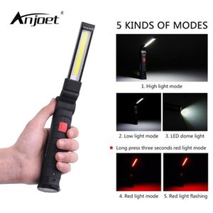 Multifunction Folding Work Light LED Portable USB Rechargeable + Magnetic Hook COB Outdoor Camping Lamp Flashlights Torches