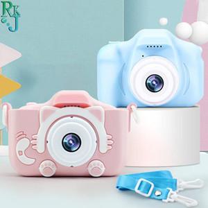 Kids HD Cartoon Anti-fall Mini Children Camera Front And Rear Double Digital Small SLR Cute Toys Cameras
