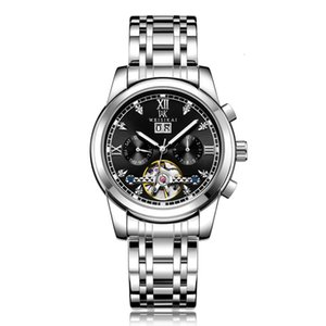Relojes Swiss Luxury Men's Big Flywheel Automático Mecánico Luminoso Multifuncional Multifuncional Wristwatches Online