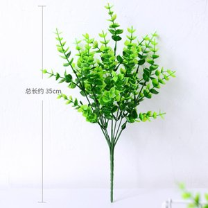 24 Pack Artificial Greenery Outdoor Plants Plastic Boxwood Shrubs Stems for Home Farmhouse Garden Office Wedding 542 V2