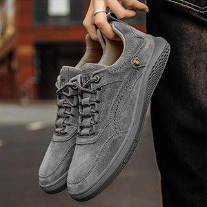 Scarpe da uomo in pelle moda tcasual tbasa autunno ot lace-up scarpe comode traspiranti scarpe da esterno dcasual scarpe sportive ert