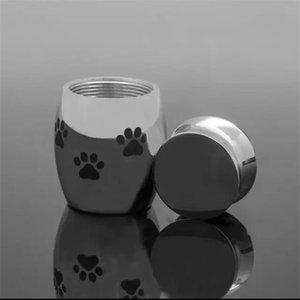 도매 고양이 캐리어 크레이트 주택 소형 화장 URN 애완 동물 재를위한 미니 keepsake 스테인레스 스틸 기념 Urns 개 고양이 홀더 903 B3