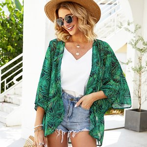 Spring and floral thin chiffon women's summer sunscreen super fairy loose air conditioning trend