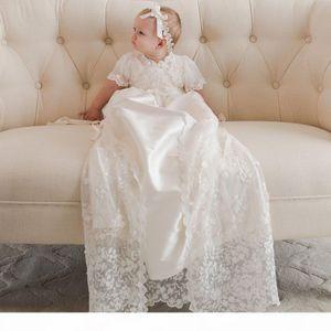 Vintage Çiçek Kız Elbise Robe Angela Batı Bebek Kız İlk Communion Elbise Dantel Vaftiz Vaftiz Pageant Parti Abiye Özel