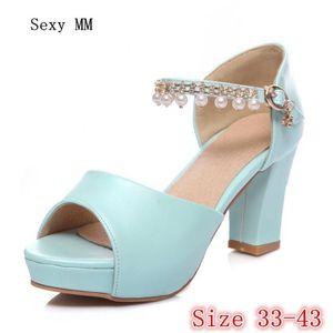Summer Pumps Women Peep Toe High Heels Party Wedding Platform Gladiator Sandals Woman Heel Shoes Plus Size 33 - 40 41 42 43 Dress