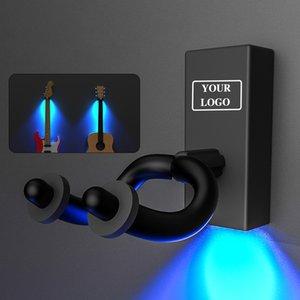 LED Acoustic Guitar Wall Mount Guitar Hanger Hook Holder Lighting For Electric Bass Banjo Ukulele