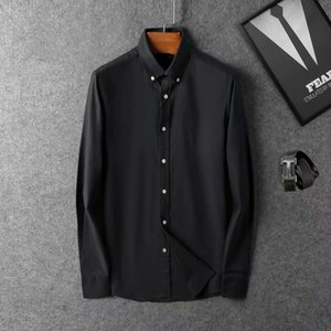 brand 2021 Business Casual mens long sleeve striped slim fit camisa masculina social male T-shirts new fashion man checked shirt