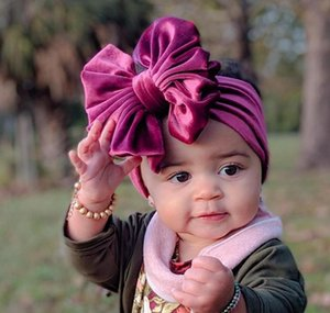 Baby, Kids & Maternity Drop Delivery 2021 Veet Turban Big Bowknot Baby Girl Headband For Born Bow Band Children Kid Head Wrap Hair Accessorie