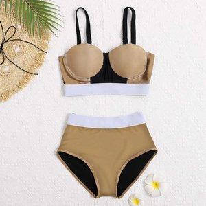 Abiti a due pezzi Sandy Beach Surf Bikini Costumi da bagno Sling Brand Beach Suit Beachwear Summer One Piece Sexy Lady G Lettera Stampa Flower Stampa Costume da bagno Drop Body Sculptinga FFF