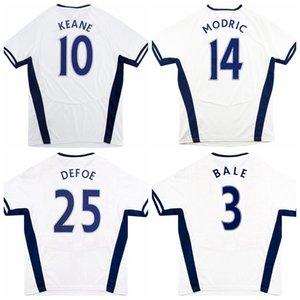 Retro classic 2008 2009 soccer jerseys BALE MODRIC BENT DEFOE WOODGATE KEANE LENNON KEANE PAVLYUCHENKO Tottenham 08 09 home football shirt S-2XL