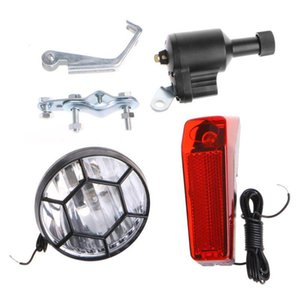 Motorized Bike Bicycle Friction Dynamo Generator Head Tail Light With Acessories Lights