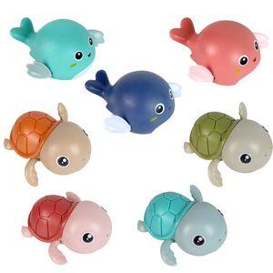 Cute Baby Bath Toys cartoon animal dolphin cow turtle classic children water toy swimming clockwork kid beach bathing supplies