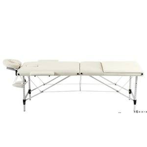 Portable SPA Bed, 3 Sections Massage Facial Beauty Furniture, Folding Aluminum Tube Adjustable Body Building Salon Table Kit by sea EWE9551