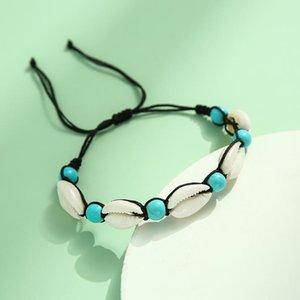 Handmade Sea Shell Charm Bracelets For Women Bohemian Beach Cowrie Seashell Puka String Rope Chains 2021 Fashion Boho Jewelry