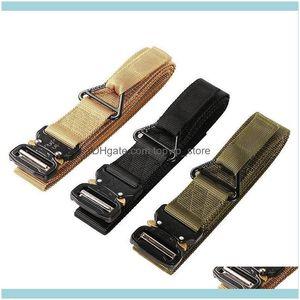 Hunting Sports & Outdoorswholesale 100Pcs Lot Outdoor Tactical Waist Belt 3.8Cm Width Nylon Adjustable Training Custom Logo Aessories Drop D
