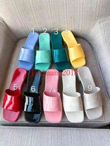 Brand woman slipper Top quality designer lady Sandals summer fashion jelly slide high heel slippers luxury Casual shoes Womens Leather Alphabet beach shoe
