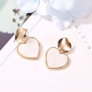 New Fashion Hanging Dangle Drop Earring 2021 Women Chic Vintage Gothic Geometric Round Long Big Gold Color Earrings