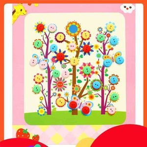 2020 Stickers Handmade Paste Material Package Kindergarten Creative Diamond Painting Toys Childrens DIY Button