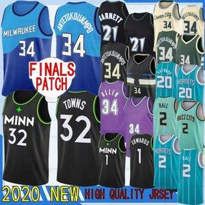 Giannis 34 Antetokounmpo 6 Bledsoe 2 Ball NCAA Basketball Jerseys 20 Hayward Ray 34 Allen Karl-Anthony Garnett 32 Towns 1 Edwards