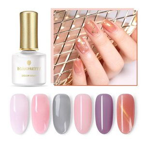 6ml Jelly Pink Gel Polish Nail Art UV Series Long Lasting Semi-transparent Soak Off Varnish