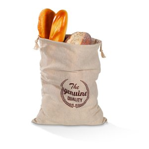 bunched bread Storage Bags Linen bread bag reusable French baguette drawstring bag Home Storage B3