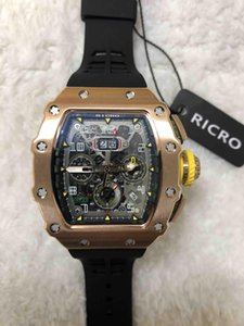 Watch, Men, RM11, Fully Automatic Mechanical Movement, Black Rubber Straps, Time Date, Deluxe, Wholesale & Retail, Bow Clasp