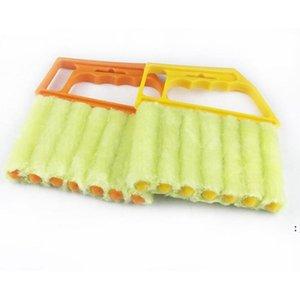 Herramientas de limpieza Microfibra útil Microfibra Limpiar Cepillo Aire acondicionado Limpiador de plumero con Lavable Veneciano OWD5982