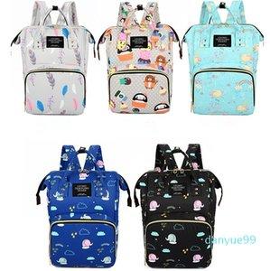 Large Capacity Diaper Bag Backpack Waterproof Mummy Travel Bag For Stroller Outdoor Beach Storage Bag Multi-function Cartoon Backpack