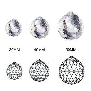30 мм хрустальный шар призмы подвесные граненые кристаллические стеклянные призмы потолочные лампы освещения подвесные люстры капельки свадьба свадебный декор CCF6410