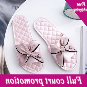 New Satin butterfly dew toe household summer women EVA simple Korean four seasons breathable cool slippers