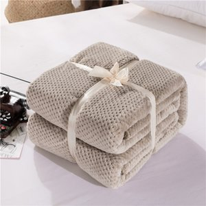 Japanese mesh coral winter solid flannel pineapple towel quilt air conditioning blanket small cover blanPECE