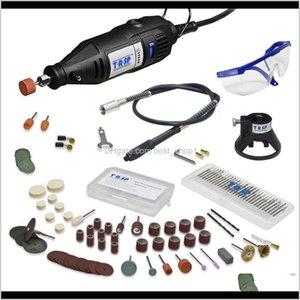 220V 130W Electric Mini Drill Set Rotary Tool Flexible Shaft 140Pcs Abrasive Bit Accessories Dremel Style Engraving Polishing Idp7C Ltc70