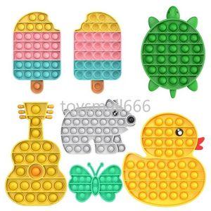 Push Bubble Sound Hidget игрушки для мороженого гитара слона утка черепаха аутизм нуждается в борьбе с напряжением игрушка для взрослых детей подарки