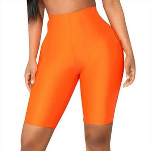 Summer Short Sports High Waist Women Leggings Elastic Cycling Gym Biker Active Pants Seamless Solid Color Fitness Comfortable
